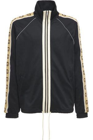 Gucci Giacca In Techno Jersey Con Zip