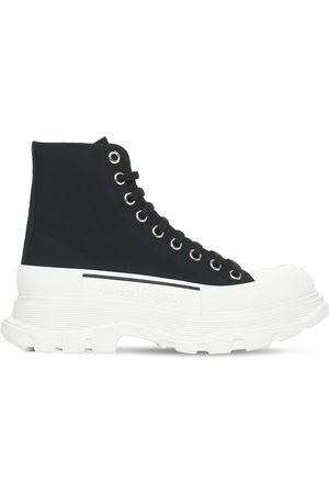 "Alexander McQueen Sneakers ""tread"" In Tela Di Cotone 45mm"