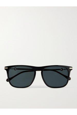 Gucci D-Frame Tortoiseshell Acetate and Gold-Tone Sunglasses