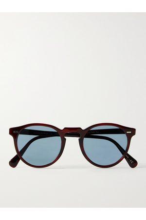 OLIVER PEOPLES Uomo Occhiali da sole - Gregory Peck Round-Frame Acetate Sunglasses
