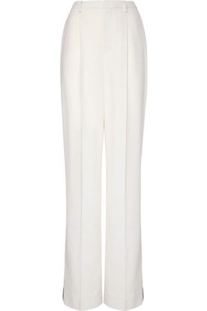 Ralph Lauren Pantaloni In Crepe Di Lana Con Lurex