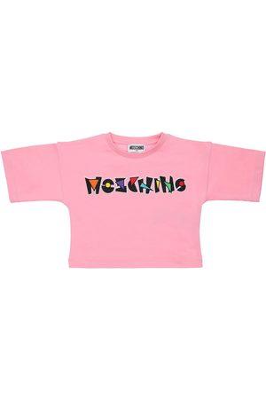 Moschino T-shirt In Jersey Di Cotone Con Logo