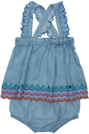 STELLA MCCARTNEY KIDS Embroidered Dress & Diaper Cover