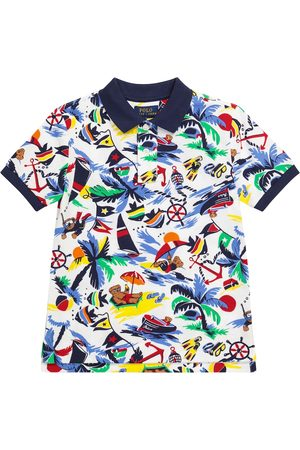 Polo Ralph Lauren Kids Polo a stampa in cotone