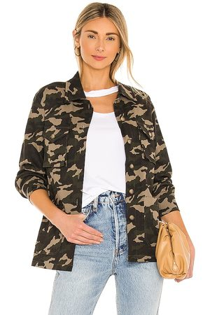 the hour Jordana Miltary Shacket in - Green. Size L (also in XXS, XS, S, M, XL).