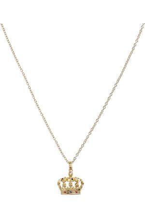 Dolce & Gabbana Collana con pendente corona in 18kt
