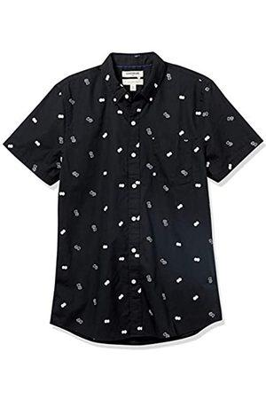 Goodthreads Slim-Fit Short-Sleeve Printed Poplin Shirt Camicia Che Si abbottona, Dice, M Tall