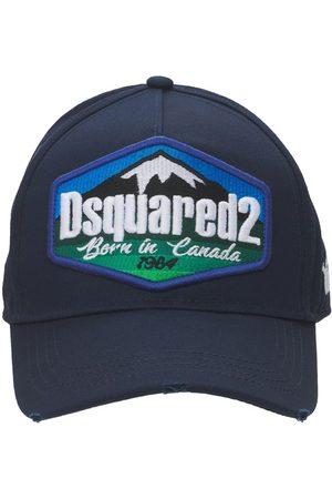 Dsquared2 Cappello Baseball In Gabardina Di Cotone