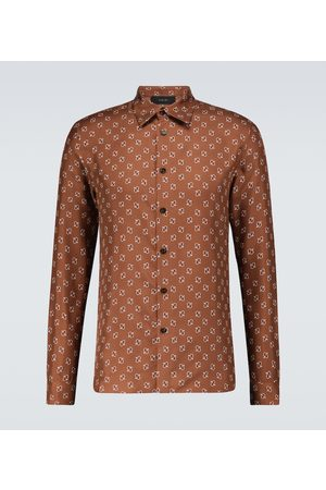 AMIRI Uomo Camicie - Camicia in seta con stampa micro Paisley