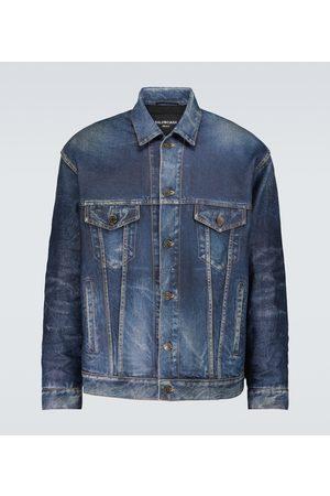 Balenciaga Uomo Giacche di pelle - Giacca in pelle effetto jeans