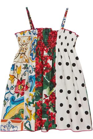 Dolce & Gabbana Vestito In Popeline Di Cotone Patchwork