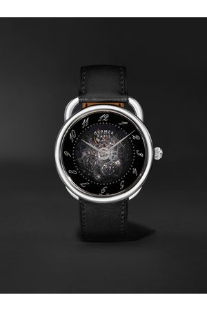 Hermès Uomo Orologi - Arceau Squelette Automatic 40mm Stainless Steel and Leather Watch, Ref. No. 055631WW00