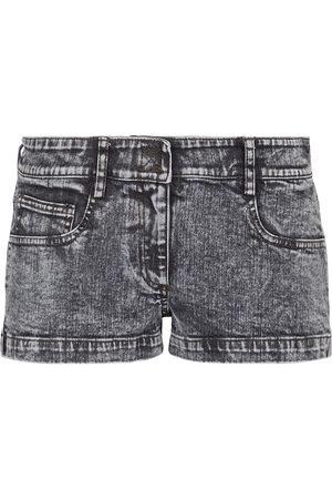 Norma Kamali Shorts di jeans a vita bassa