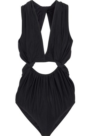 Rick Owens Body in mesh e jersey stretch con cut-out