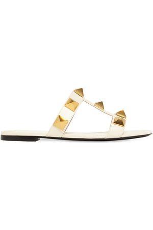 VALENTINO GARAVANI Sandali In Pelle Con Borchie 10mm