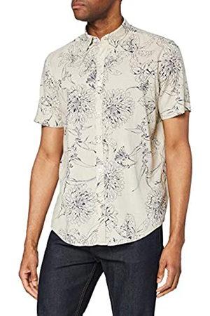 FIND Camicia di Lino a Manica Corta Uomo, , M, Label: M