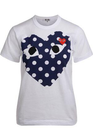 Comme des Garçons T-Shirt da donna con cuore a pois