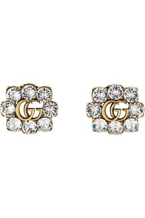 Gucci Orecchini Doppia G con cristalli