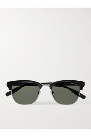 Mont Blanc Uomo Occhiali da sole - D-Frame Acetate and Silver-Tone Sunglasses