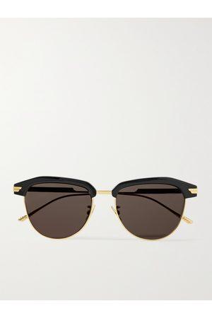 Bottega Veneta D-Frame Acetate and Metal Sunglasses
