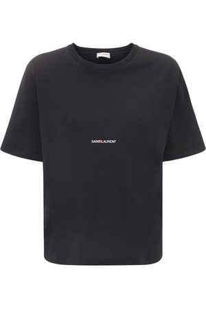 Saint Laurent T-shirt In Jersey Di Cotone