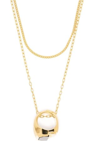 AMBUSH MISFIT ST RING NECKLACE GOLD GOLD NO CO