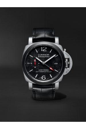 PANERAI Uomo Orologi - Luminor Luna Rossa Limited Edition Automatic GMT 42mm Titanium and Alligator Watch, Ref. No. PAM01096