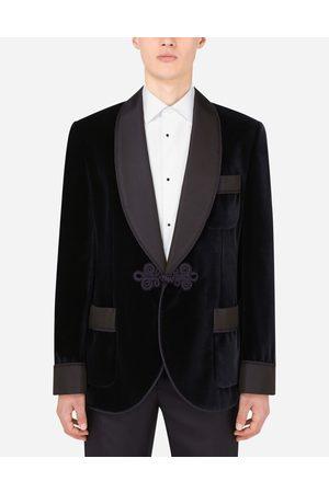 Dolce & Gabbana Uomo Giacche - Cappotti e Giacche - Giacca da camera tuxedo in velluto male 44