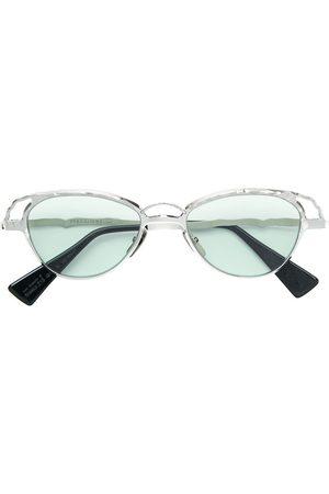 KUBORAUM Uomo Occhiali da sole - Occhiali da sole tondi - Effetto metallizzato