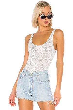 superdown Samantha Bodysuit in - White. Size L (also in XXS, XS, S, M, XL).