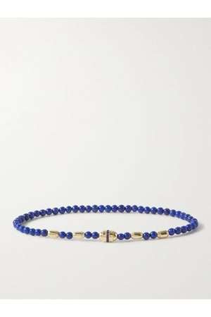 LUIS MORAIS Uomo Bracciali - 14-Karat Gold, Tiger's Eye and Sapphire Bracelet