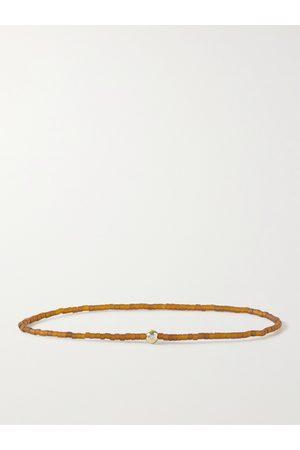 LUIS MORAIS 14-Karat Gold, Diamond and Bead Bracelet