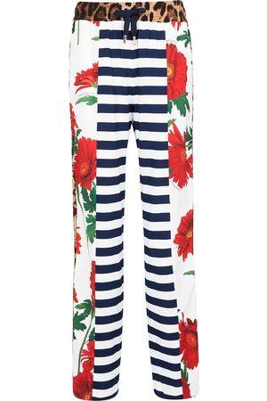 Dolce & Gabbana Donna Stretch - Pantaloni patchwork in crêpe stretch
