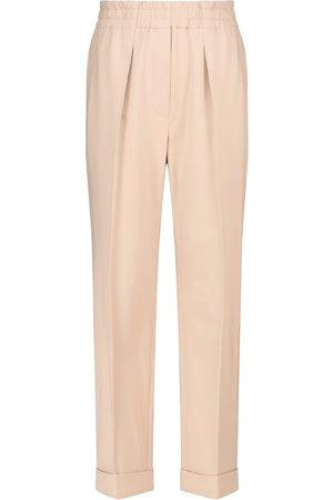 Brunello Cucinelli Donna Pantaloni - Pantaloni a vita alta in cotone