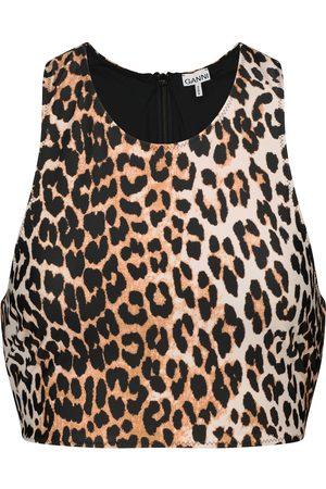 Ganni Donna Bikini - Top bikini a stampa leopardata