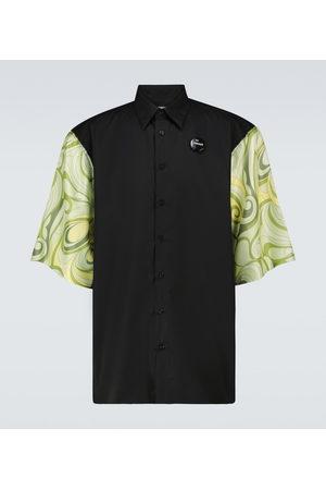 RAF SIMONS Uomo Camicie - Camicia in seta con maniche a fantasia