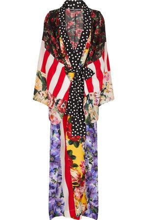 Dolce & Gabbana Donna Accappatoi e vestaglie - Vestaglia patchwork in crêpe de chine