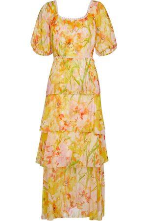 Marchesa Notte Donna Vestiti da sera - Abito midi a stampa floreale in chiffon