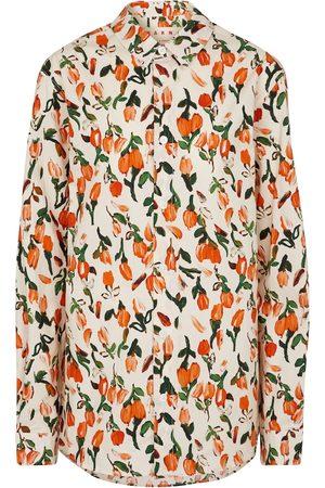 Marni Camicia a stampa floreale in popeline di cotone