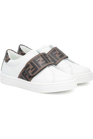 Fendi Bambina Sneakers - Sneakers in pelle con logo