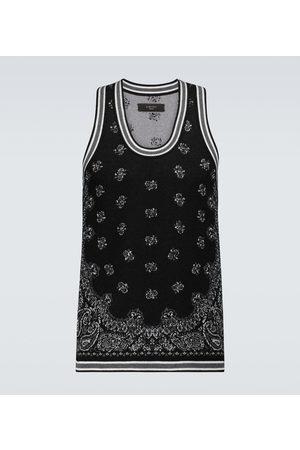 AMIRI Uomo T-shirt a maniche corte - Canotta Bandana Basketball