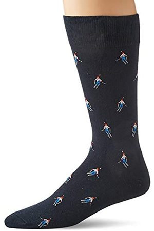 Goodthreads Uomo Calze - 5-Pack Patterned Socks Casual, Skier, One Size