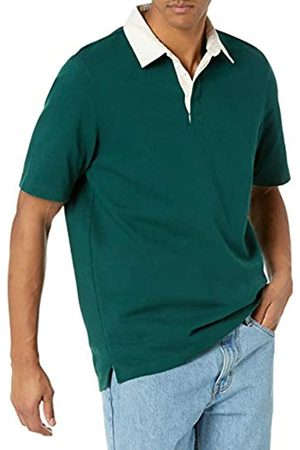 Amazon Essentials Uomo Polo - Regular-Fit Short-Sleeve Rugby Polo, Scuro, 44-47
