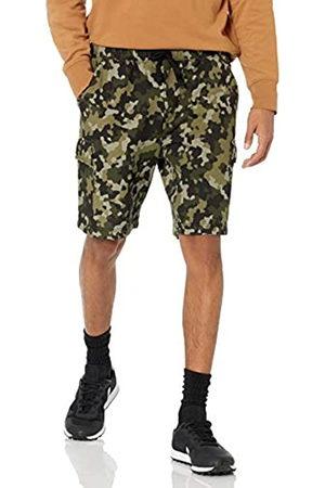 Amazon Essentials Uomo Cargo - Fleece Short Pantaloni Cargo da Uomo, Olive Geo Camo, 35W / 37L