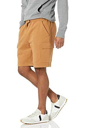 Amazon Uomo Cargo - Fleece Short Pantaloni Cargo da Uomo, Tan, 27W / 28L