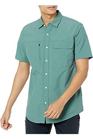 Amazon Essentials Camicia da Trekking a Maniche Corte con vestibilità Regolare Athletic-Shirts, Salvia, US S