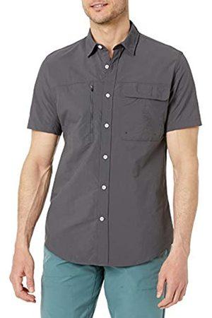 Amazon Camicia da Trekking a Maniche Corte con vestibilità Regolare Athletic-Shirts, Scuro, US L