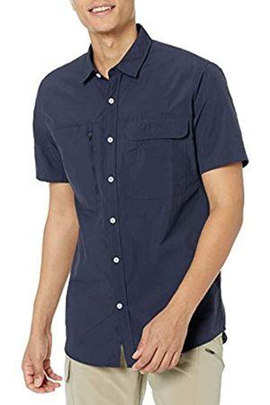 Amazon Essentials Camicia da Trekking a Maniche Corte con vestibilità Regolare Athletic-Shirts, Notte, US S