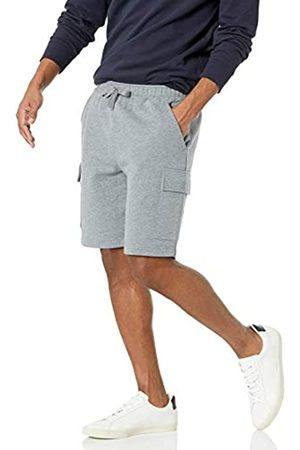 Amazon Uomo Cargo - Fleece Short Pantaloni Cargo da Uomo, Chiaro Puntinato, XL-XXL