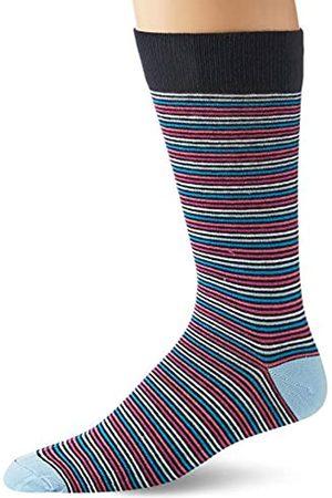 Goodthreads Confezione da 5 calzini standard da uomo, motivo a righe